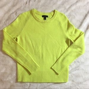 J Crew Neon Yellow Wool Sweater